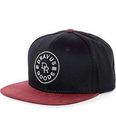 Dravus Goods Black & Burgundy Snapback Hat
