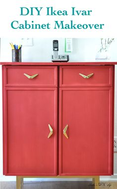 Can you believe this is an Ikea Ivar cabinet hack!