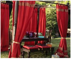 This beautiful curtains are made with an embroidered sari border on the top and bottom, and adjustable tie tops. The fabric is a poly blend for color fastness and durability. Indian Curtains, Silk Curtains, Indian Style Bedrooms, India Decor, Home Theater Furniture, Hollywood Homes, Beautiful Curtains, Home Remodeling Diy, Asian Home Decor
