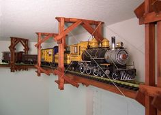 Pretty awesome ceiling train kit - train and track not included; you have to supply your own. Fun for a kids room!