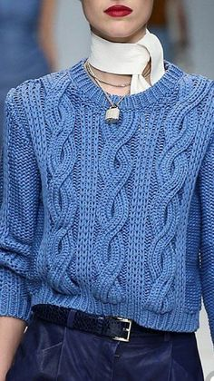 Trussardi Spring 2015 Ready-To-Wear - Diy Crafts - maallure Crochet Top Outfit, Crochet Baby Poncho, Crochet Poncho Patterns, Jumper Designs, Knit Vest Pattern, Knit Fashion, Fall Fashion, Womens Fashion, Casual Tops For Women