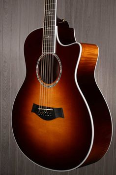 Taylor 656CE 12 String Acoustic Electric Guitar - Tobacco Sunburst | Small White Mouse.  Love the fade on the side!