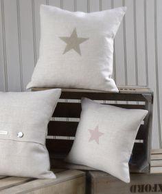 Star Appliqued Cushions www.peonyandsage.com