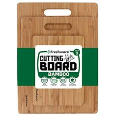 Cutting Boards for Kitchen [Bamboo, Set of Eco-Friendly Wood Cutting Board Wood Chopping Board, Wood Cutting Boards, Bamboo Cutting Board, Best Cutting Board, Quinoa Recipes Easy, Serving Trays With Handles, Bourbon Chicken, Bamboo Board, Restaurant