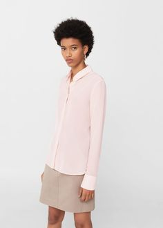 Silk shirt | MANGO