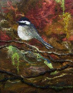 #632 On a Limb Too | by Deebs Fiber Arts....Felted Chickadee