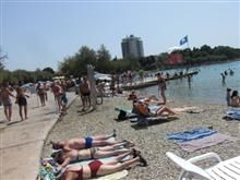 """During the day you can go for a swim and sunbathe on the beautiful beaches, of which the most famous are: pebble and concrete Hangar and sandy """"Plava plaža"""" which is particularly attractive to children."""