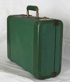Vintage 1940s Green Suitcase or Luggage by EleanorMeriwether, $38.00