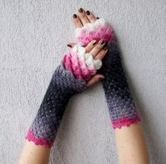 17 Dragon Scale Crochet Gloves For When Winter Comes
