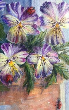 These Ladybugs are so easy to paint. Great for adding life and personality to your floral paintings. 10 Easy Steps to beautiful Ladybugs.