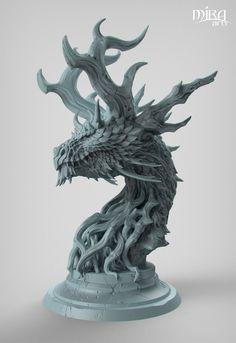 Forest Dragon, Paul Tan on ArtStation at https://www.artstation.com/artwork/9ROxL