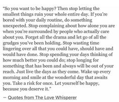 just. be. HAPPY.