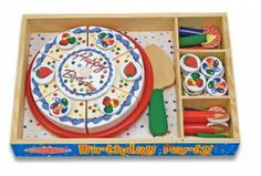 Happy Birthday Party Cake by Melissa and Doug. Item number Every day is a celebration with this Melissa and Doug festive birthday party! Cakes By Melissa, Melissa & Doug, Wooden Play Food, Wooden Toys, Happy Birthday Parties, Birthday Gifts, Baby Birthday, Birthday Cakes, Birthday Ideas