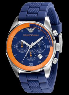 Emporio Armani Watch, Men's Chronograph Silicone Strap AR5864