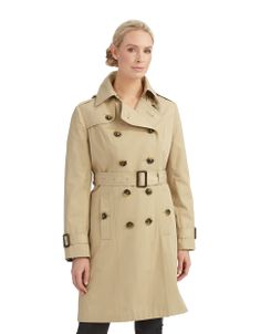 Women's Apparel   30% Off Spring Coats   Double Breasted Trench Coat   Lord and Taylor