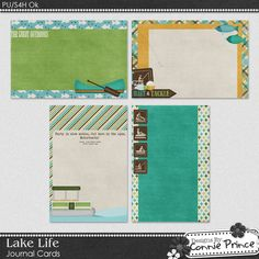 Lake Life - Free Journal Cards [cap_lakelifeJC] - It's Free! : Designs By Connie Prince*