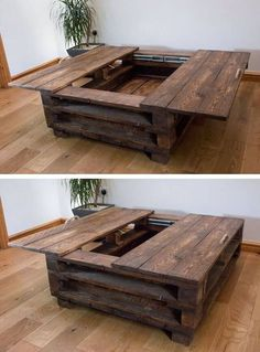 Awesome Wooden Coffee Table Design Ideas Match For Any Home Design 22 tables design ideas Awesome Wooden Coffee Table Design Ideas Match For Any Home Design 22 Wooden Coffee Table Designs, Diy Coffee Table, Decorating Coffee Tables, Diy Table, Pallet Coffee Tables, Diy Pallet Table, Coffee Table Storage, Coffee Table Made From Pallets, Cofee Tables