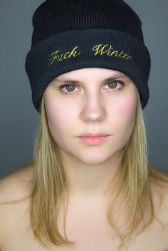 Fuck Winter Cap Black Gold #fuckwinter #merino #madeinaustria #winter #fashion Black Gold, Winter Fashion, Beanie, Faces, Cap, People, How To Make, Style, Scarves
