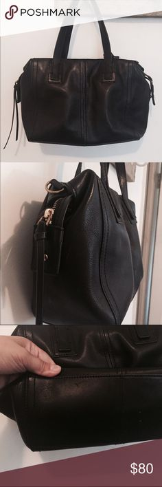 Fossil Black Satchel Fossil Black satchel in perfect condition no scuffs only worn a few times. Fossil Bags Satchels