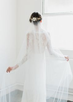 ROSELLA Chapel Veil With Blusher 2