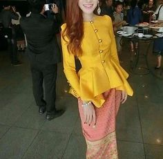 Laos Thai Traditional  Synthetic Silk Top blouse Outfits any color available A2