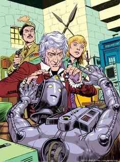 3rd Doctor, Jo Grant, The Brig, Cyberman