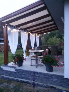 The pergola kits are the easiest and quickest way to build a garden pergola. There are lots of do it yourself pergola kits available to you so that anyone could easily put them together to construct a new structure at their backyard. Backyard Patio Designs, Front Yard Landscaping, Patio Ideas, Landscaping Ideas, Backyard Beach, Balcony Ideas, Backyard Porch Ideas, Acreage Landscaping, Courtyard Landscaping