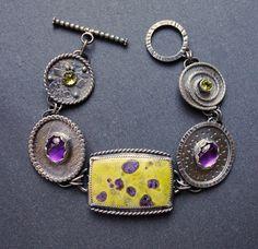 Mixed gemstone bracelet. Atlantisite bracelet with by ForestBook