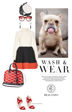 Funny face by pensivepeacock on Polyvore featuring polyvore fashion style Valentino Giuseppe Zanotti Dsquared2 Louis Vuitton clothing