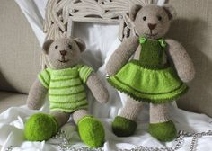 My hand knitted eco friendly toys