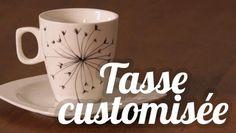 Tasse customisée avec une fleur de pissenlit - DIY Paint a cup with a flower