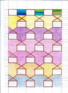 Camillo Bortolato - Metodo Analogico Graph Paper Drawings, Graph Paper Art, Pictures To Draw, Art School, Pixel Art, Quilt Patterns, Mandala, Projects To Try, Doodles