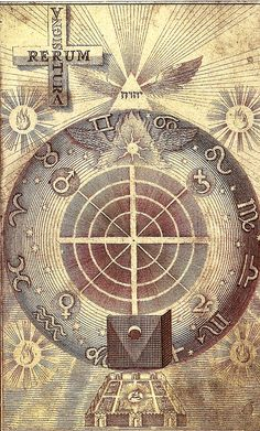 "☤alquimia - Wheel of properties of the seven planets or ""source spirits"" J. Esoteric Art, Art Ancien, Arte Tribal, Occult Art, Mystique, Sacred Geometry, Les Oeuvres, Astrology, Vintage World Maps"