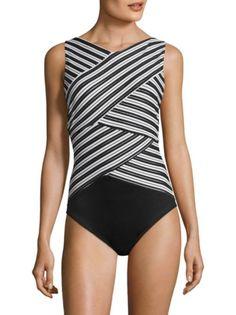 Miraclesuit Swim - Brio Striped Bodysuit