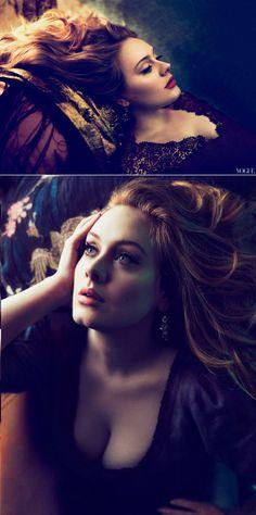 Adele,Annie Leibovitz. Short lit. Pretty