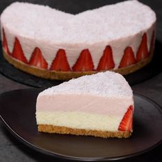 Dessert Recipes Easy For A Crowd - New ideas Easy Desserts, Delicious Desserts, Dessert Recipes, Yummy Food, Cheesecake Cake, Cheesecake Recipes, Super Torte, Food Garnishes, Sweet Cakes