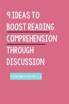 Looking for ways to boost your students' comprehension? One of our ultimate goals when teaching reading is to boost student comprehension of text. We want our students to construct deeper meaning as they read. Check out these 9 easy ways you can boost your students' reading comprehension. #ReadingComprehension