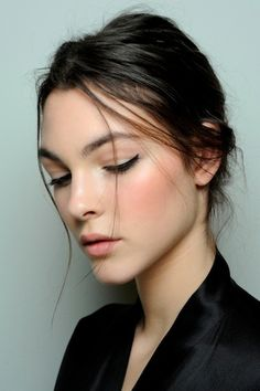 Eyeliner backstage at Dolce & Gabbana | #beauty