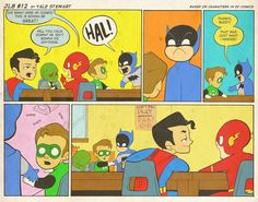 JL8 #12 by Yale Stewart Based on characters in DC Comics. Creative content © Yale Stewart. Like the Facebook page here!