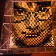 Harry Potter portrait perler beads by michelle  WOW!  -Great, except his EYES AREN'T SUPPOSED TO BE BLUE! (However, they are in the movie)