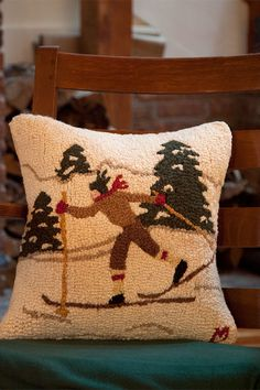 One of the joys of being in the Winter Wonderland is cross country skiing in the woods and meadows! Always remember the feeling with this pillow.