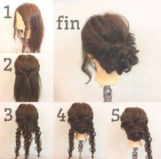 Hair Updos Fancy Up Dos 41 New Ideas - Hair styles - Hochsteckfrisuren Lust auf 41 neue Ideen - Frisuren - Curly Hair Styles, Medium Hair Styles, Natural Hair Styles, Up Dos For Medium Hair, Updos For Medium Length Hair Tutorial, Curly Updos For Medium Hair, Long Hair Updos, Diy Hair Updos, Fancy Hairstyles