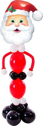 #Balloon Santa (foil head, Quicklink body)
