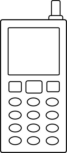 cell_phone_outlinepng 24515564 pixeles - Cell Phone Coloring Pages
