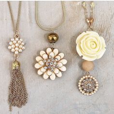 Floral necklaces designed by Denise Yezbak Moore