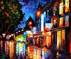 SLEEPING AMSTERDAM - PALETTE KNIFE Oil Painting On Canvas By Leonid Afremov http://afremov.com/SLEEPING-AMSTERDAM-PALETTE-KNIFE-Oil-Painting-On-Canvas-By-Leonid-Afremov-Size-30-x36.html?bid=1&partner=20921&utm_medium=/vpin&utm_campaign=v-ADD-YOUR&utm_source=s-vpin