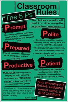 classroom rules - love this poster!