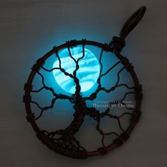 Glow in the Dark Full Moon Tree of Life by PhoenixFireDesigns