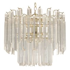 Italian Tiered Lucite Chandelier At 1stdibs