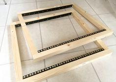 diy rack case construction - front and back frame done